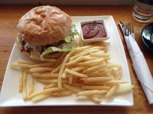 fusion cajun burger