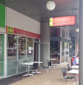 Global cafe facade