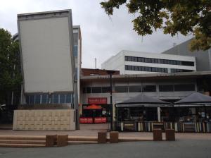 behind the big screen