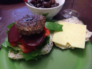 a fine burger made with love at home