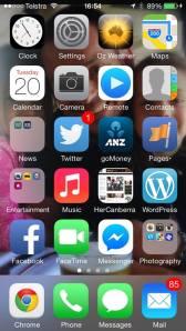 amanda iphone home screen