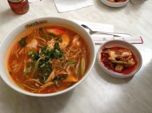 ramen combo with kimchi